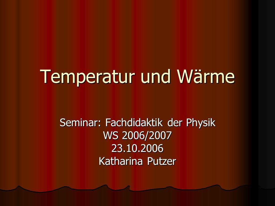 Seminar: Fachdidaktik der Physik