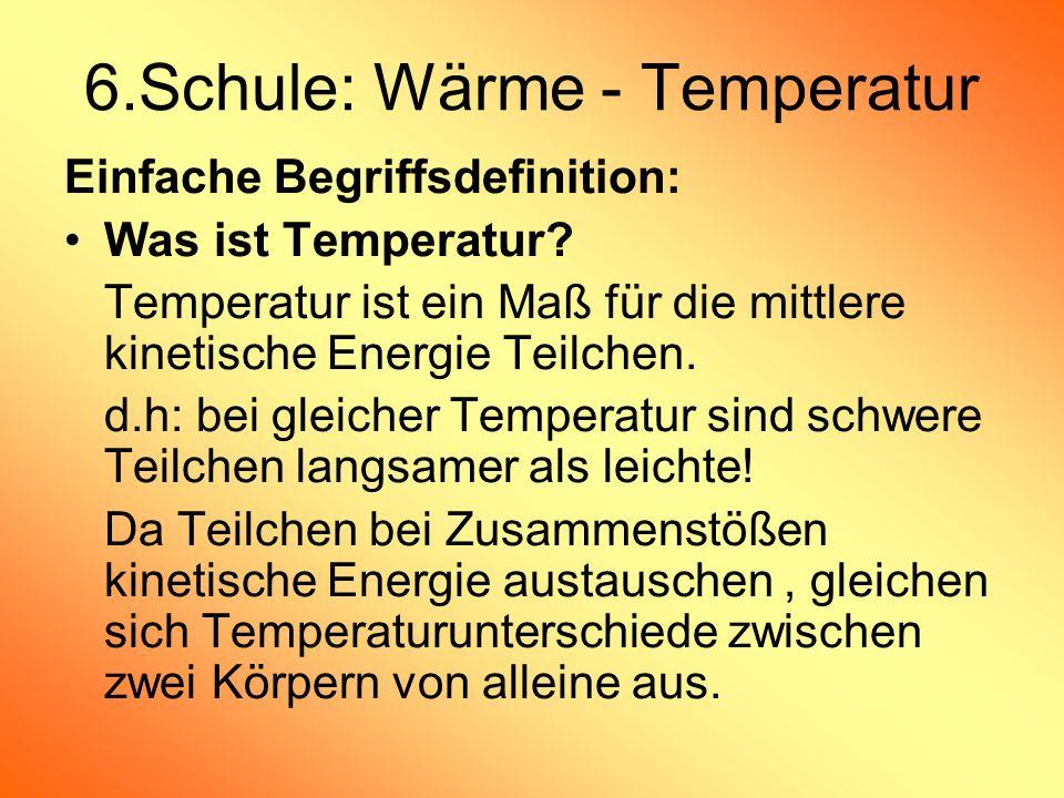 6.Schule: Wärme - Temperatur
