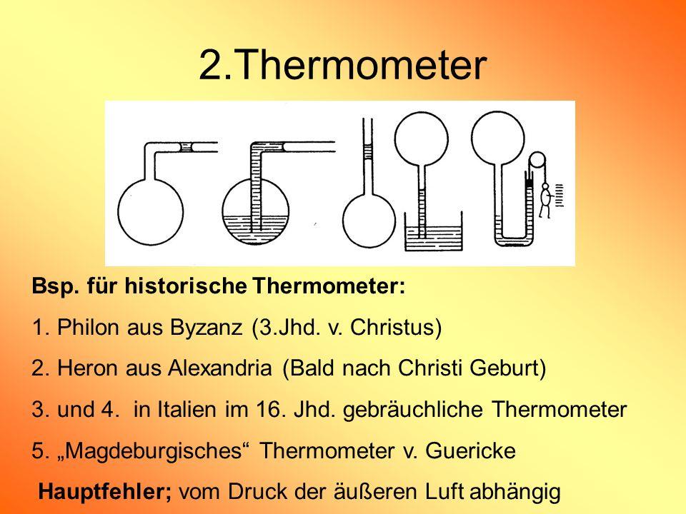 2.Thermometer Bsp. für historische Thermometer: