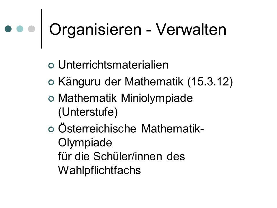 Organisieren - Verwalten