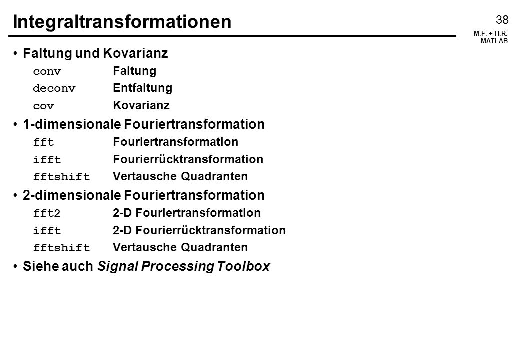 Integraltransformationen