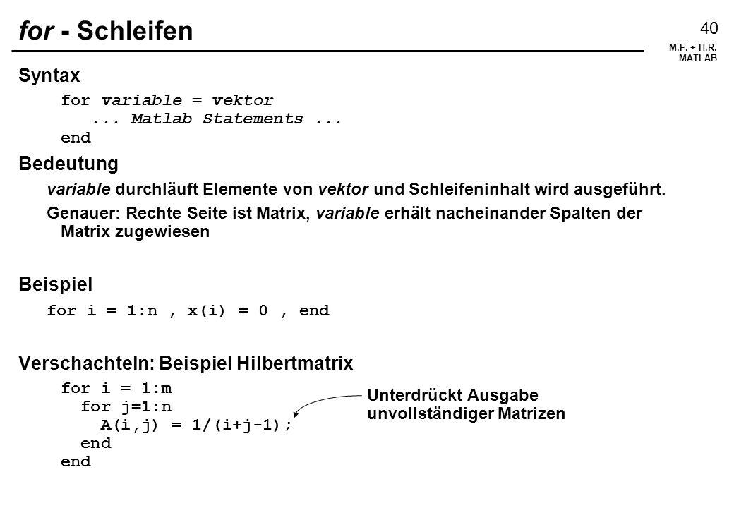 for - Schleifen Syntax Bedeutung Beispiel