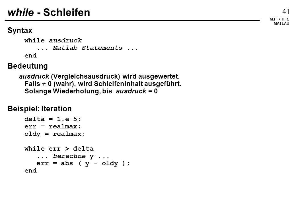 while - Schleifen Syntax Bedeutung Beispiel: Iteration
