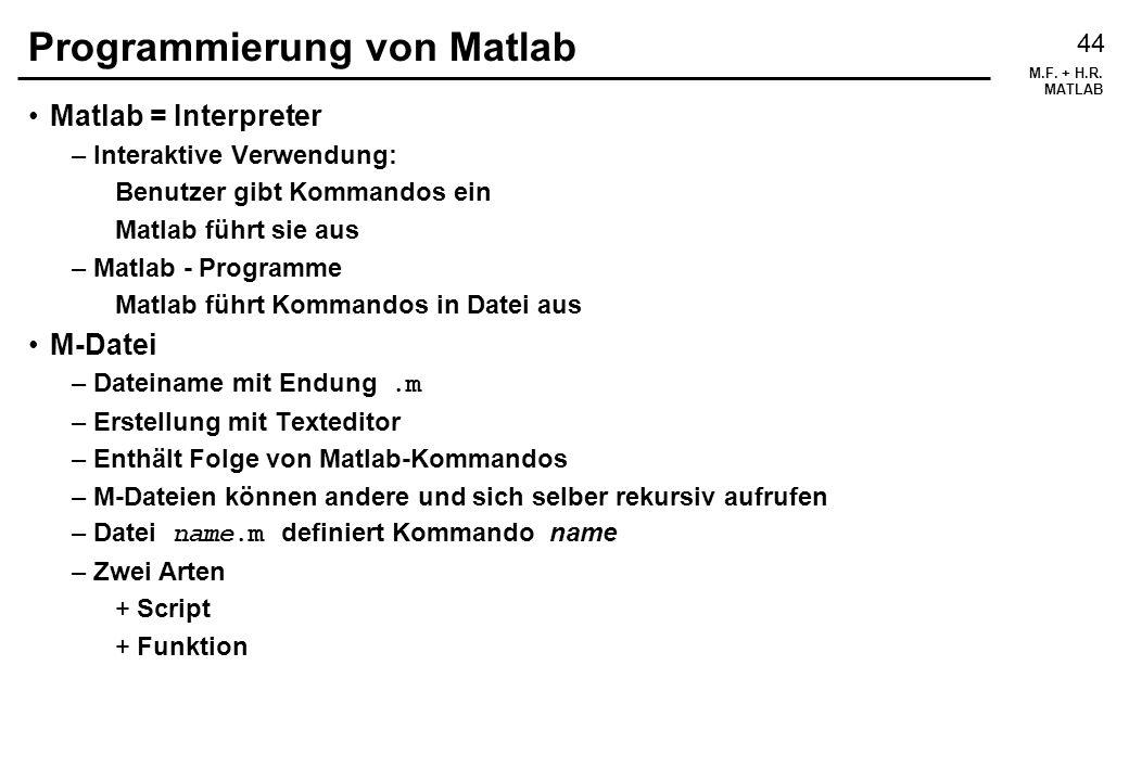 Programmierung von Matlab