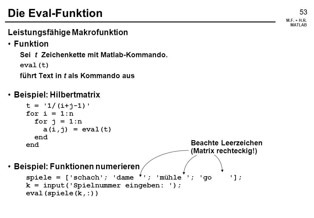 Die Eval-Funktion Leistungsfähige Makrofunktion Funktion