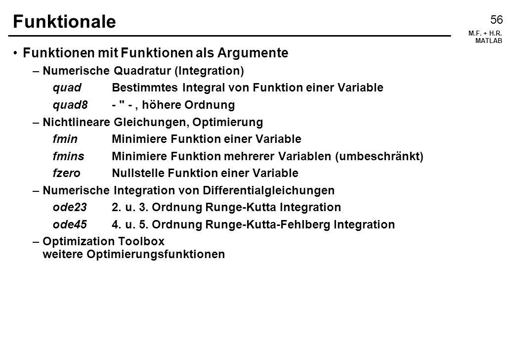 Funktionale Funktionen mit Funktionen als Argumente