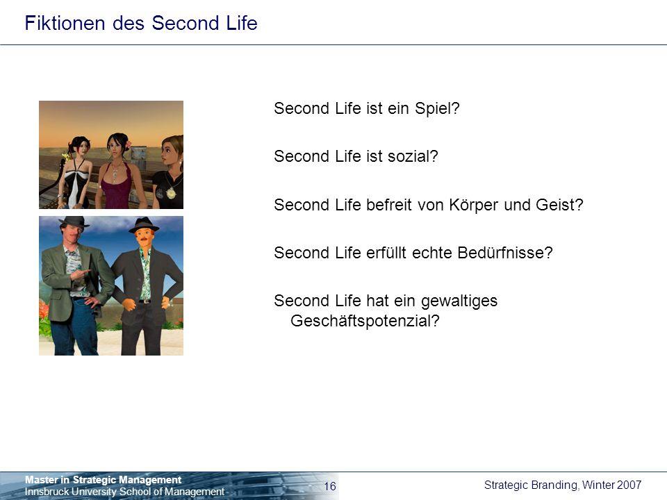 Fiktionen des Second Life