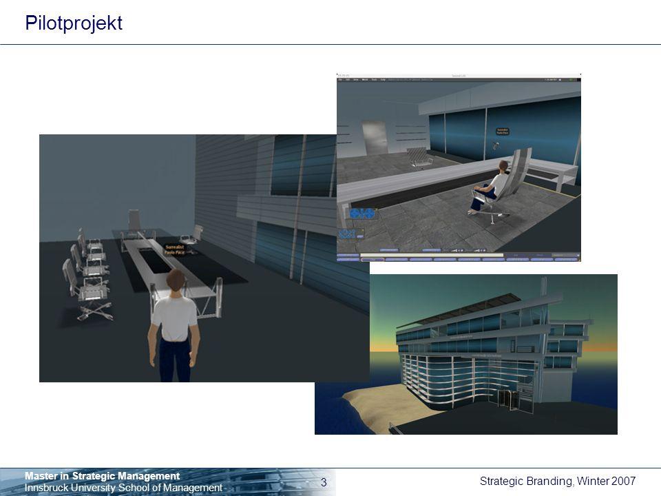 Pilotprojekt 1. Schritt (Frühjahr 2007): Campus auf einer gemieteten Fläche, Büros, zB für Sprechstunden von Gast-Professoren.