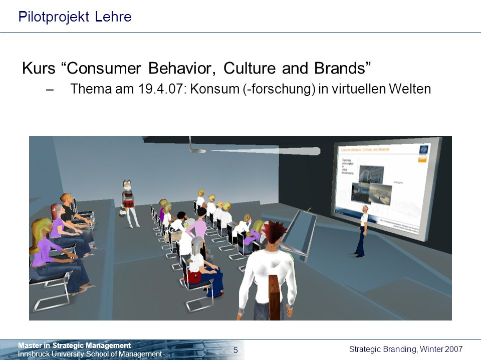 Kurs Consumer Behavior, Culture and Brands
