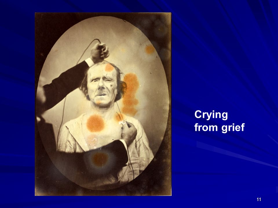 Crying from grief