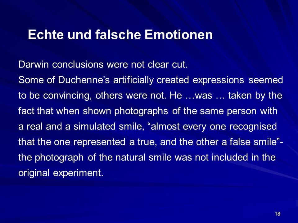 Echte und falsche Emotionen