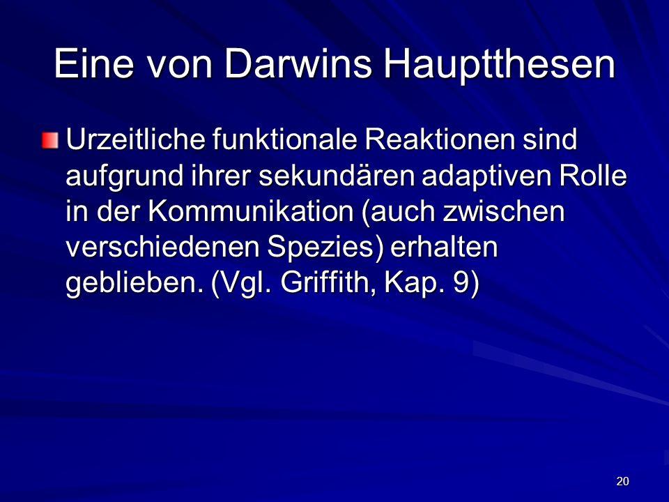Eine von Darwins Hauptthesen