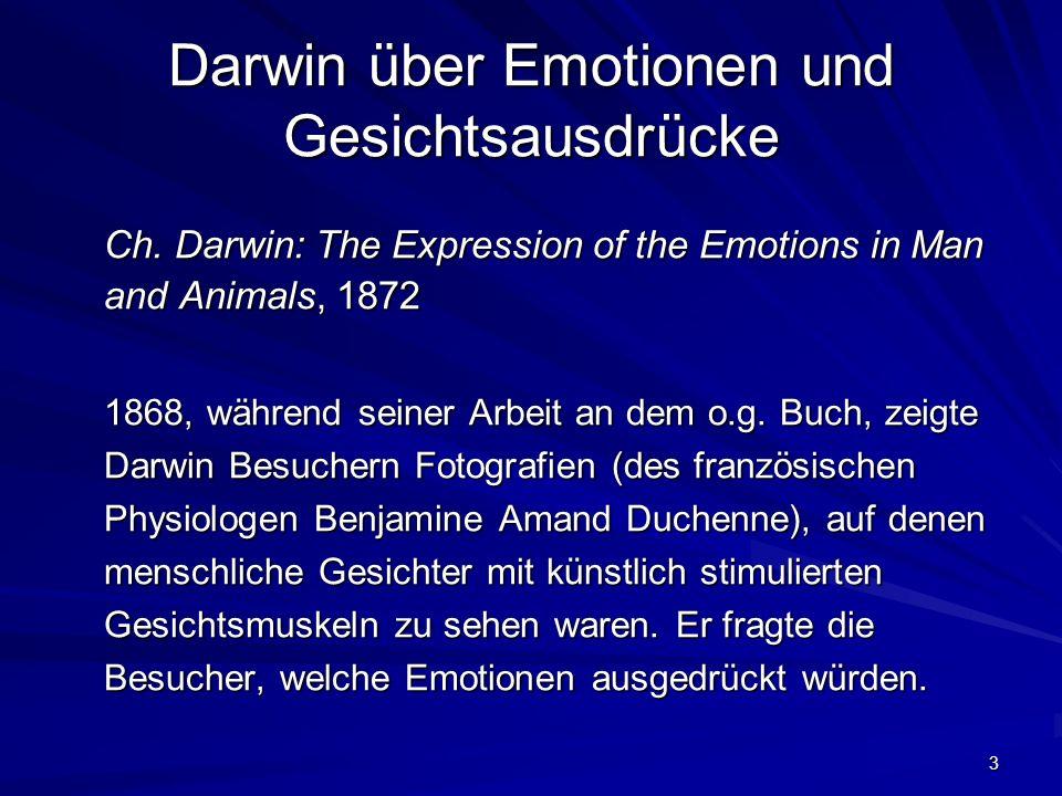 Darwin über Emotionen und Gesichtsausdrücke
