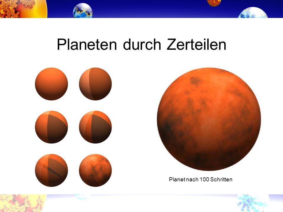 Planeten durch Zerteilen