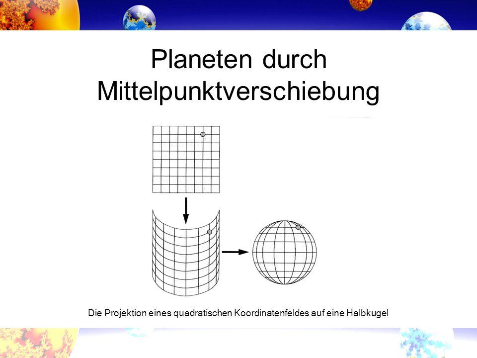 Planeten durch Mittelpunktverschiebung