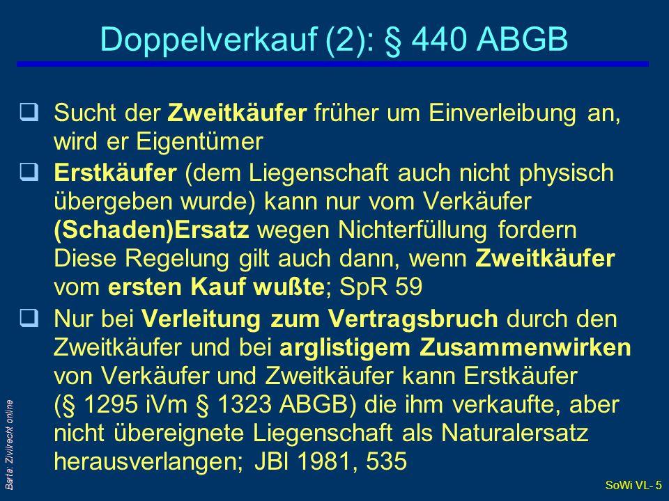Doppelverkauf (2): § 440 ABGB