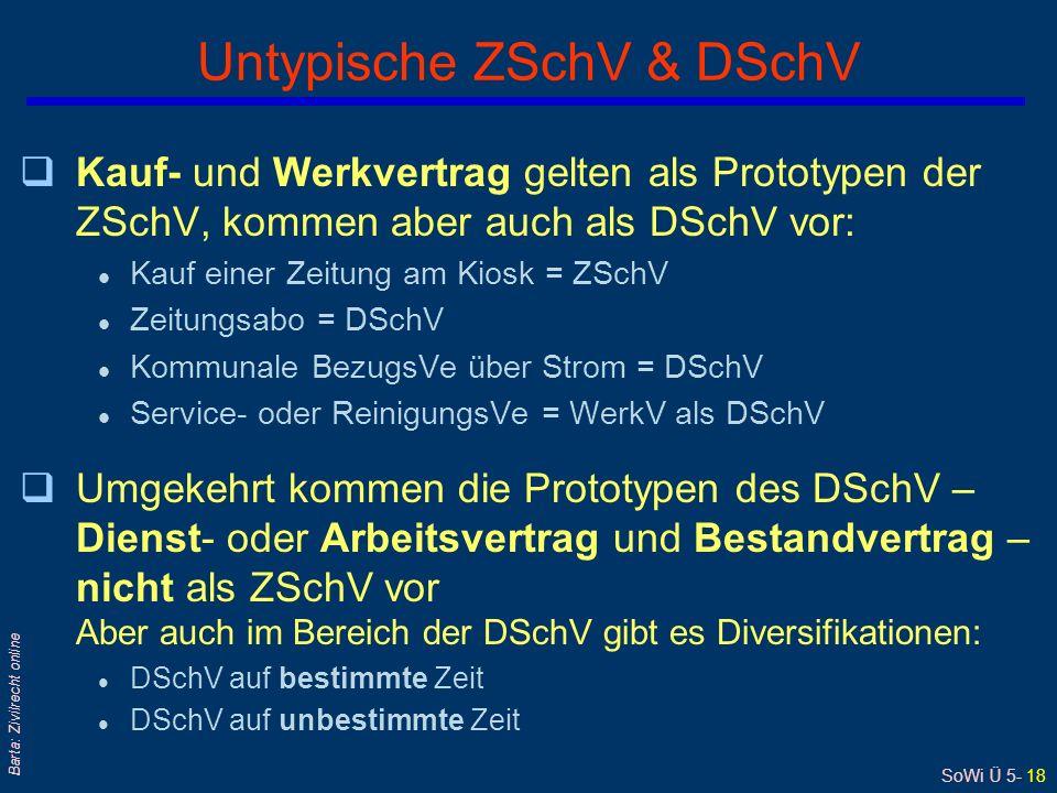 Untypische ZSchV & DSchV