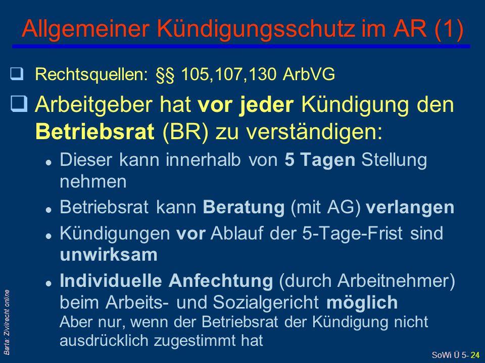 Allgemeiner Kündigungsschutz im AR (1)