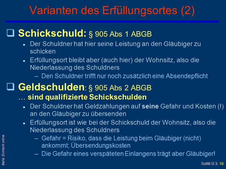 Varianten des Erfüllungsortes (2)
