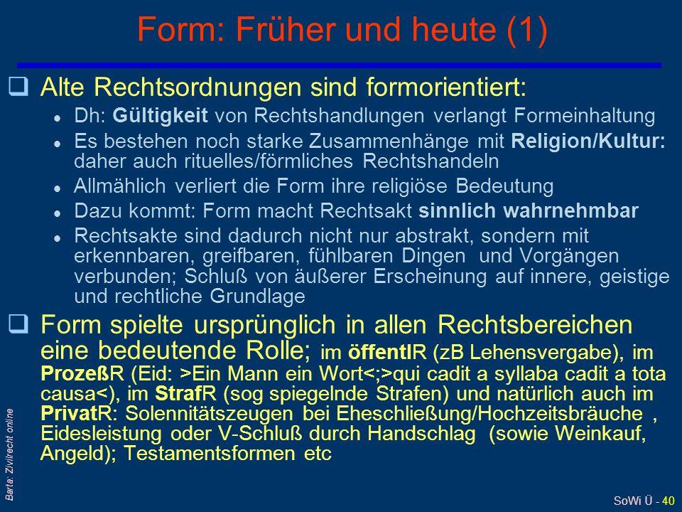 Form: Früher und heute (1)