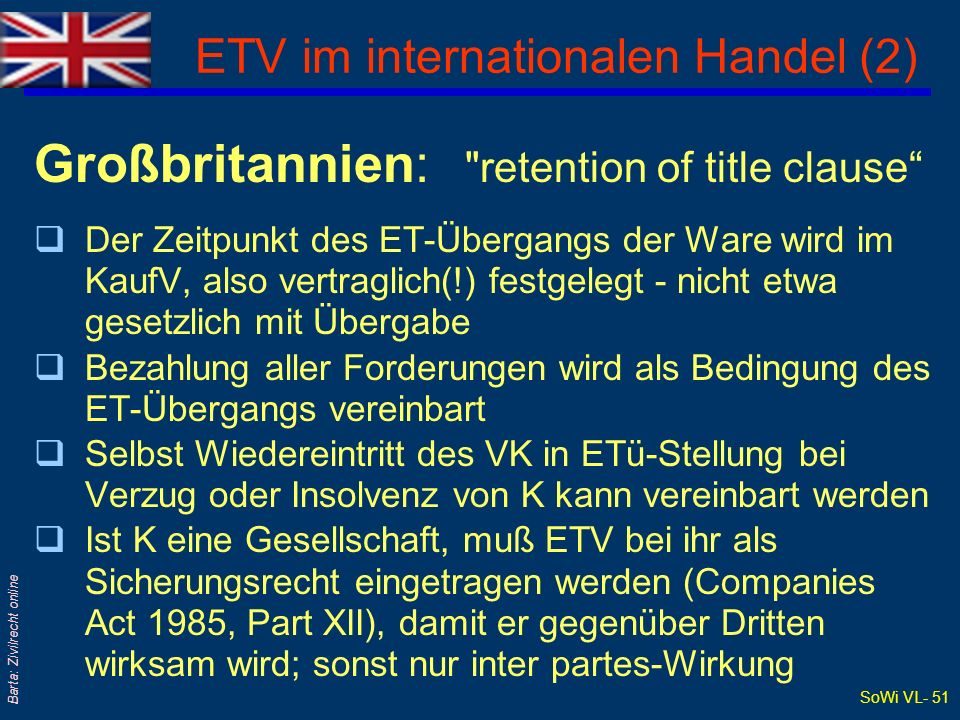 ETV im internationalen Handel (2)