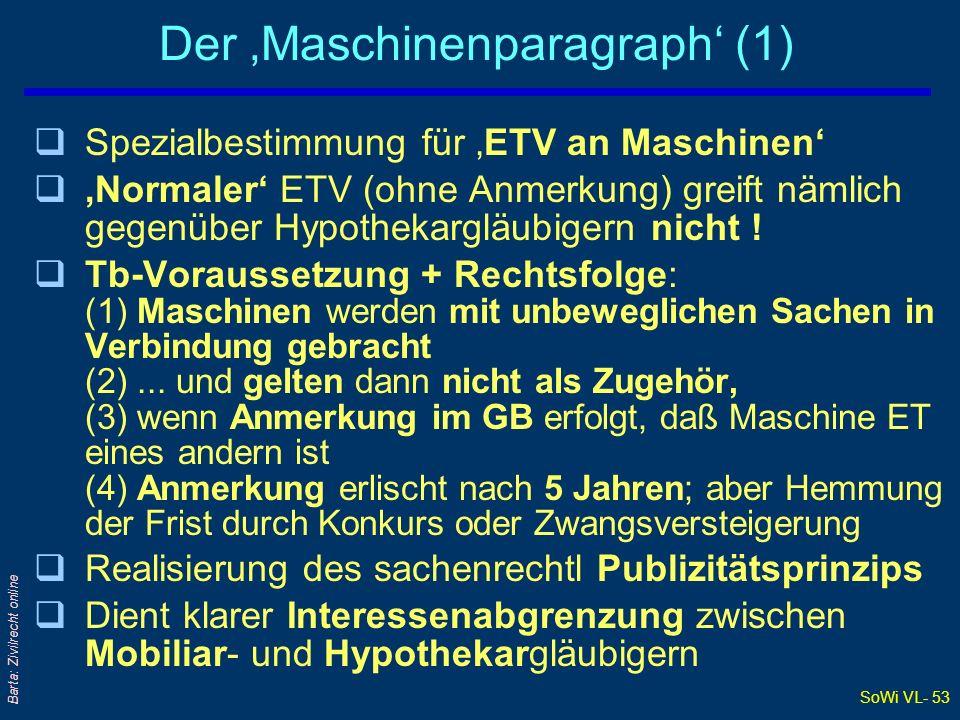 Der 'Maschinenparagraph' (1)