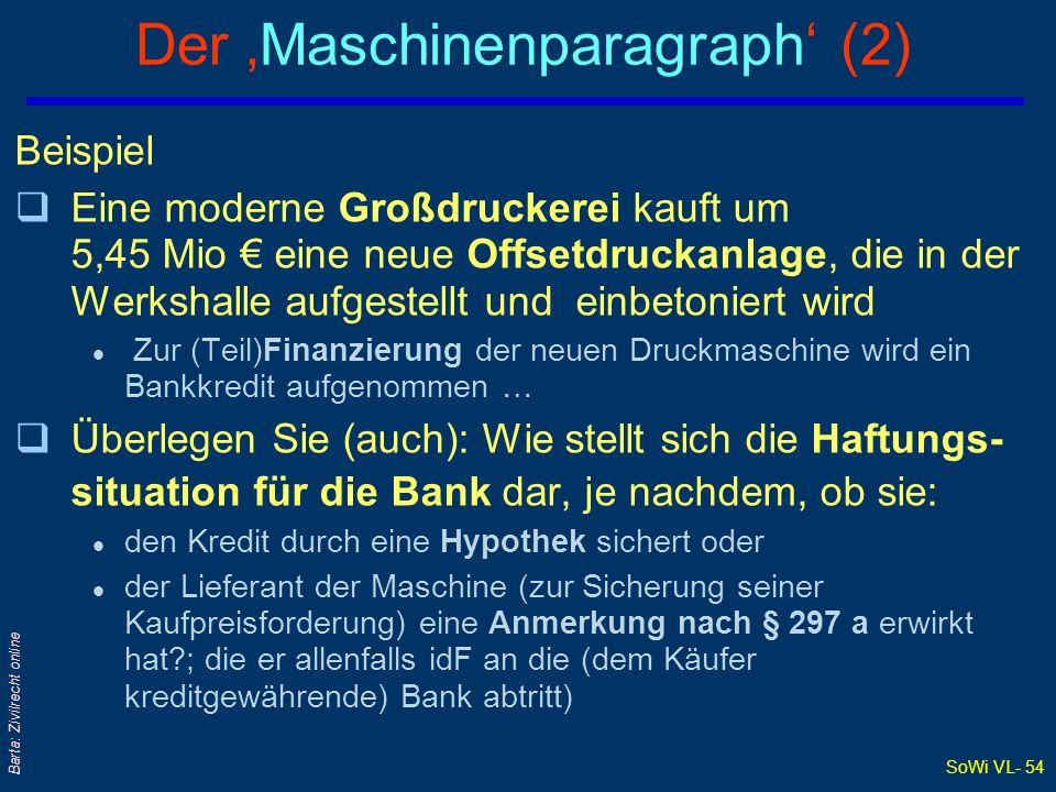 Der 'Maschinenparagraph' (2)
