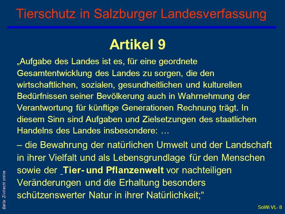 Tierschutz in Salzburger Landesverfassung