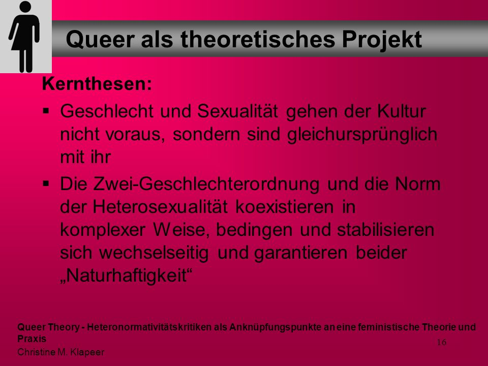 Queer als theoretisches Projekt