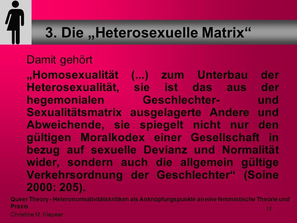 "3. Die ""Heterosexuelle Matrix"
