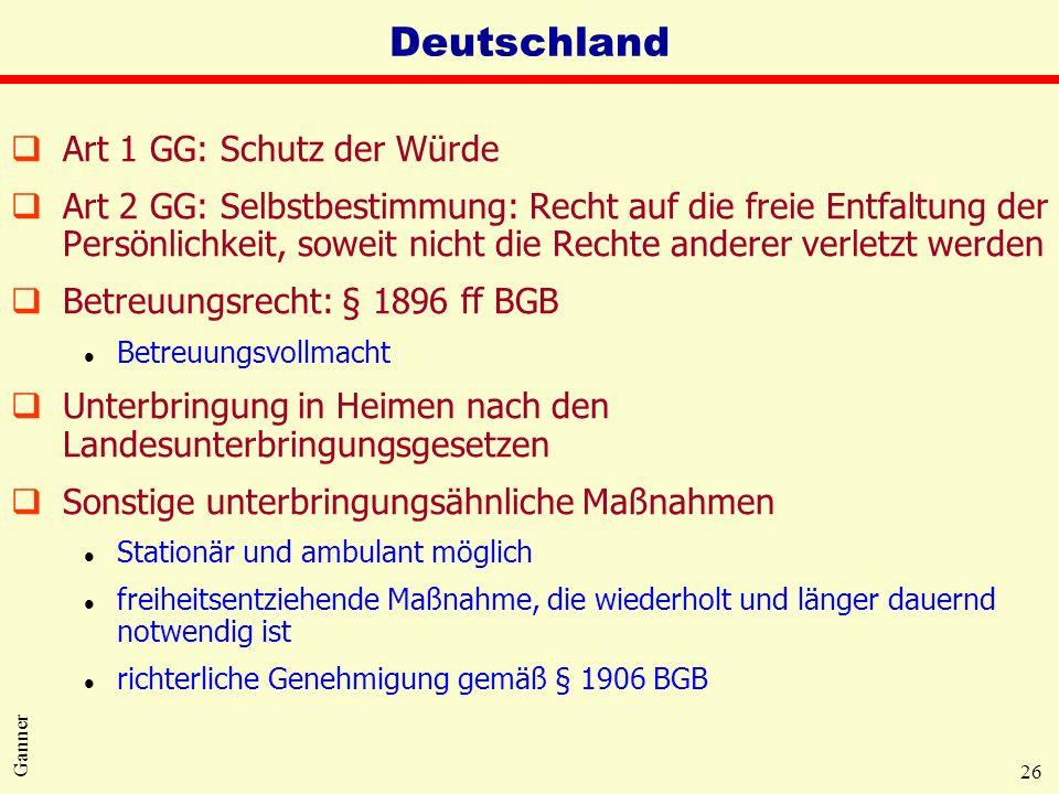 Deutschland Art 1 GG: Schutz der Würde