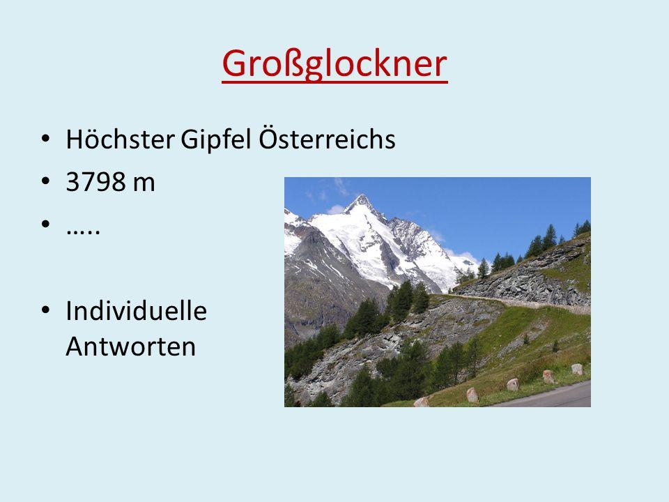 Großglockner Höchster Gipfel Österreichs 3798 m …..