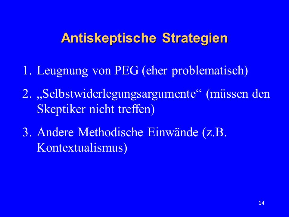 Antiskeptische Strategien