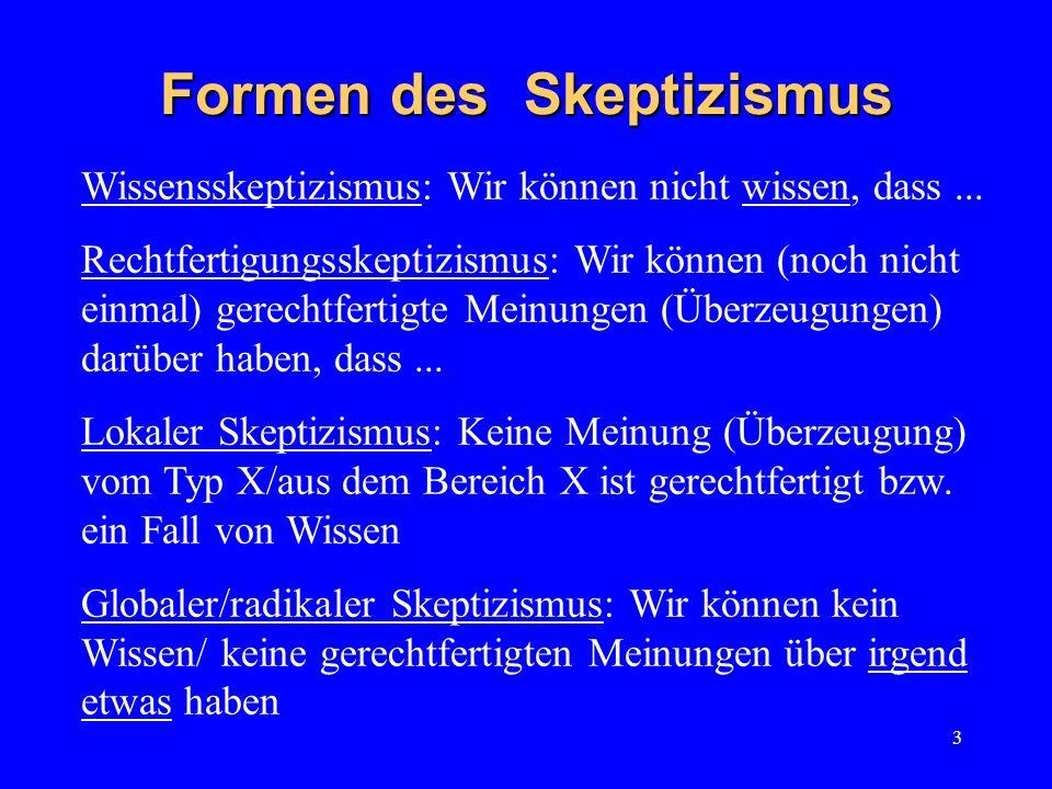 Formen des Skeptizismus