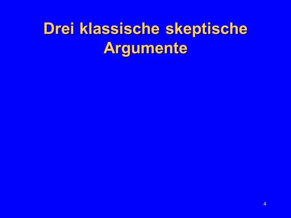 Drei klassische skeptische Argumente