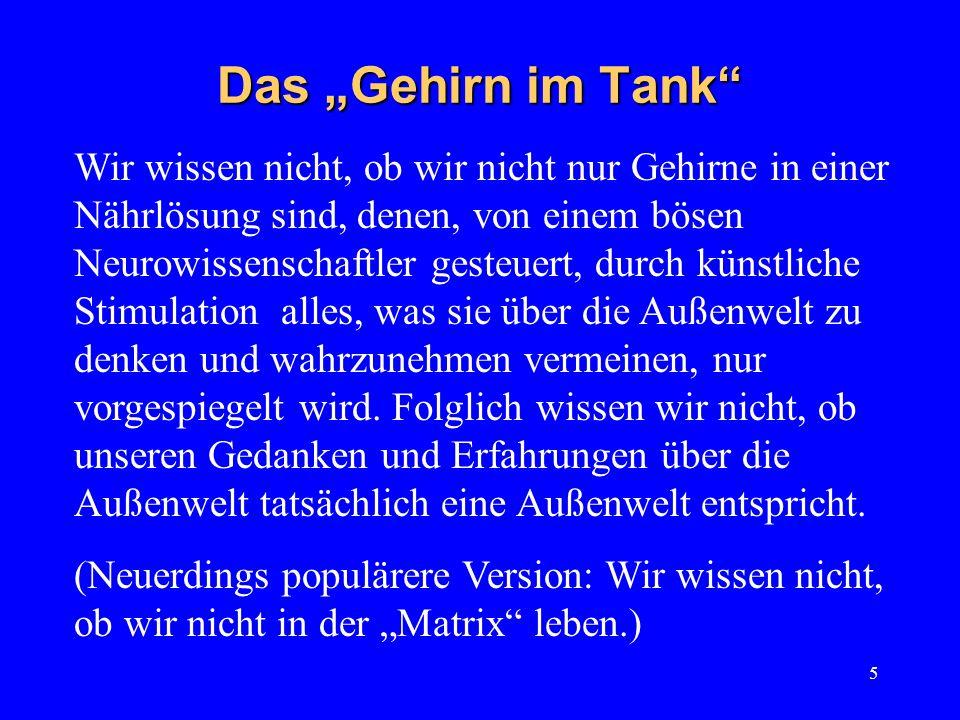 """Das """"Gehirn im Tank"""