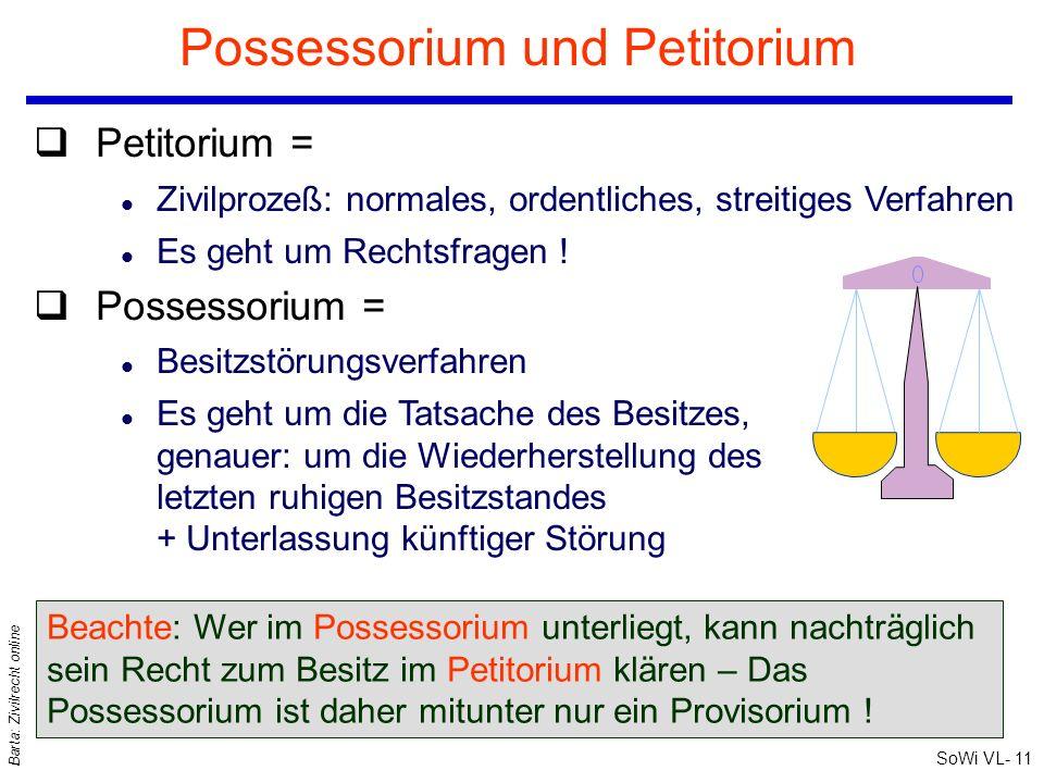 Possessorium und Petitorium