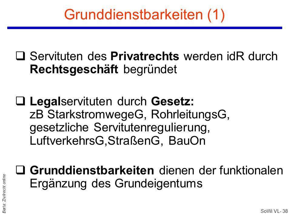 Grunddienstbarkeiten (1)