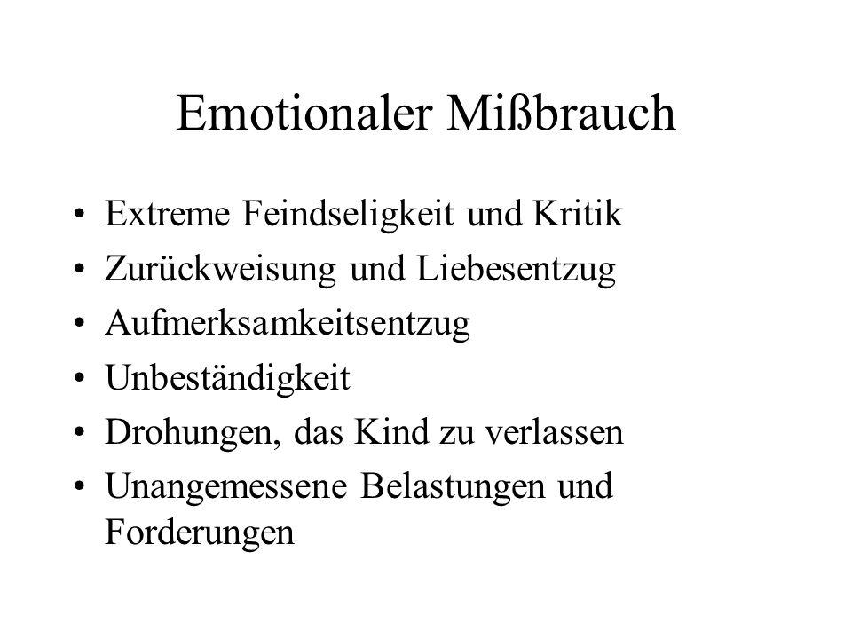 Emotionaler Mißbrauch