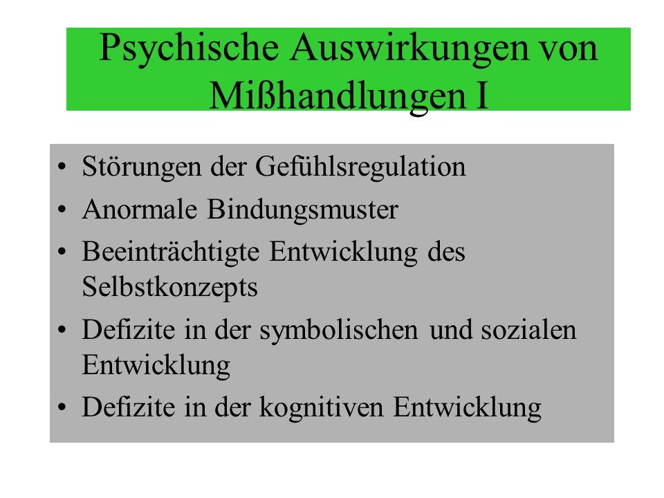 Psychische Auswirkungen von Mißhandlungen I