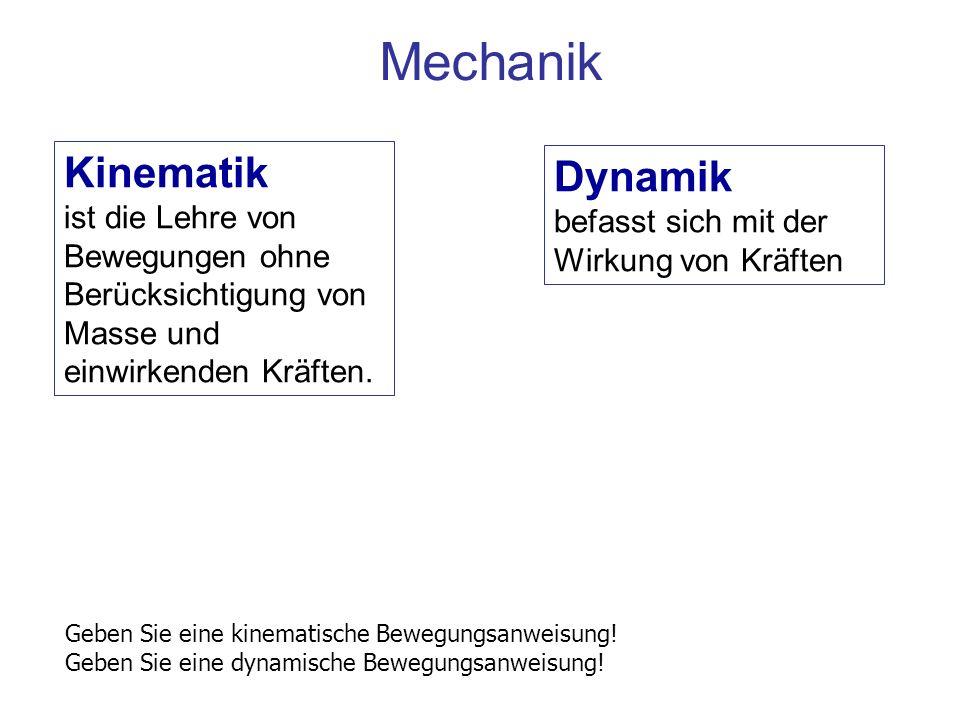 Mechanik Kinematik Dynamik