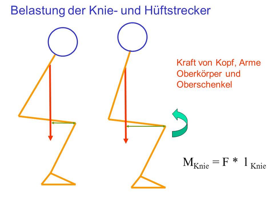 Belastung der Knie- und Hüftstrecker