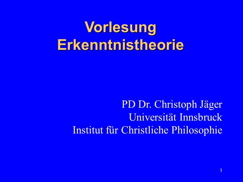 Vorlesung Erkenntnistheorie