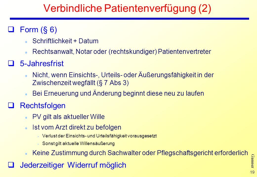 Verbindliche Patientenverfügung (2)