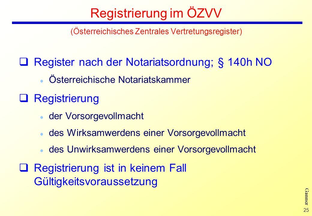 Registrierung im ÖZVV (Österreichisches Zentrales Vertretungsregister)