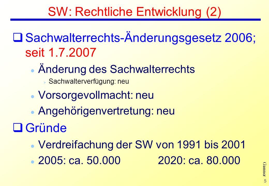 SW: Rechtliche Entwicklung (2)
