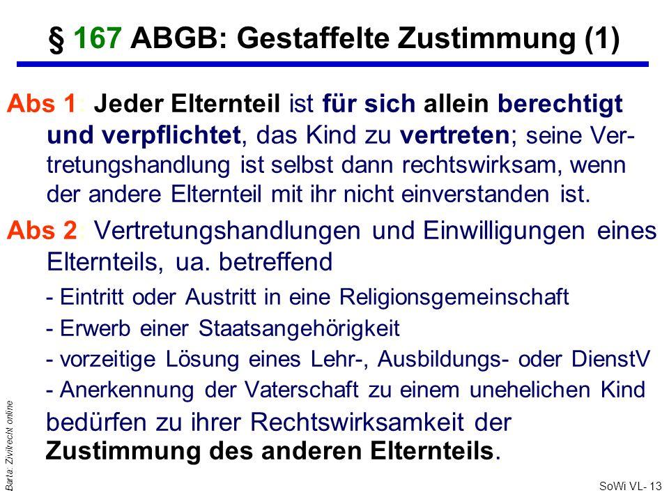 § 167 ABGB: Gestaffelte Zustimmung (1)