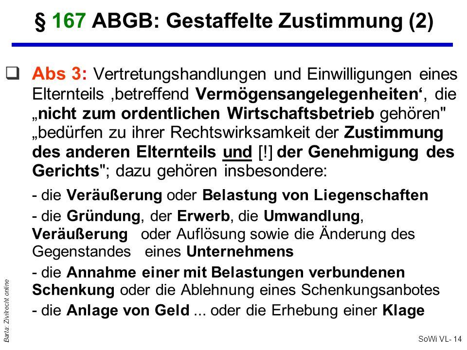 § 167 ABGB: Gestaffelte Zustimmung (2)