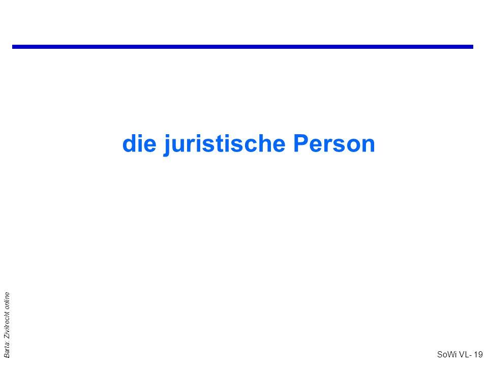 die juristische Person