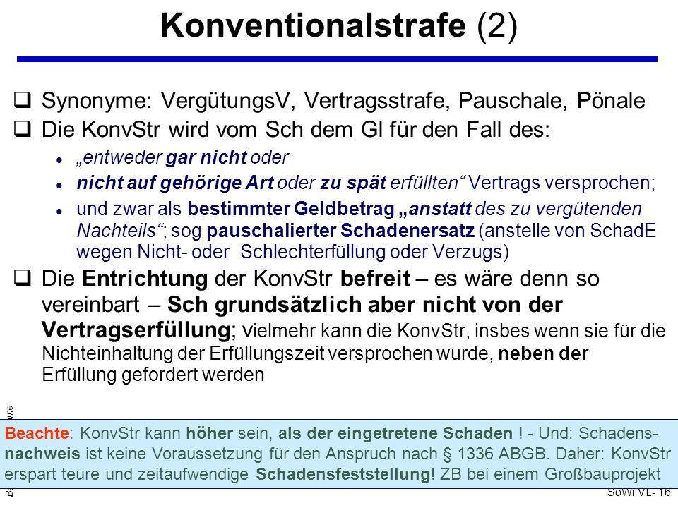 Konventionalstrafe (2)